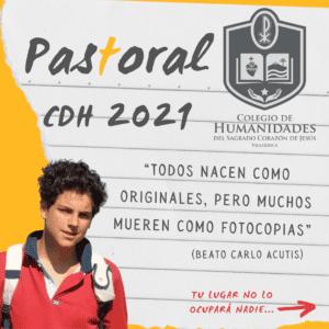 Pastoral CDH 2021: De la mano de Carlo Acutis