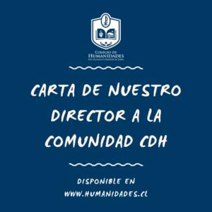 Carta de nuestro director a la comunidad CDH