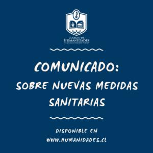 Comunicado: Nuevas medidas sanitarias