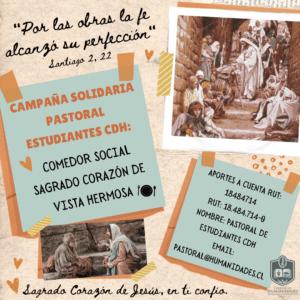 Pastoral CDH: Campaña de solidaridad