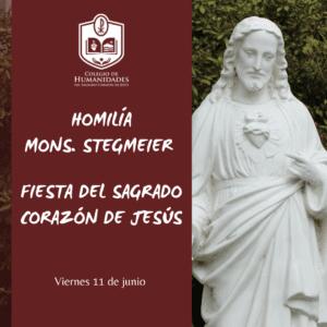 Homilía de Mons. Stegmeier en la Fiesta del Sagrado Corazón de Jesús