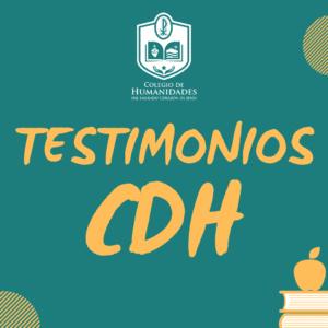 Testimonios CDH: Pilar Perez, el desafío de una nueva modalidad (VIDEO)