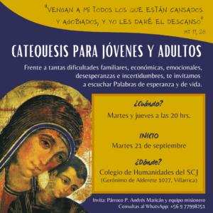 Invitación: Catequesis para jóvenes y adultos
