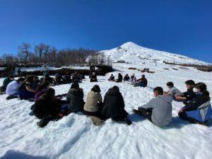 7º básico de excursión al Volcán Villarrica: Alegría y oración